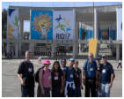group in front of maracana stadium
